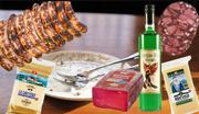 Geschützt sind: Gruyère, St. Galler Bratwürste, Bündnerfleisch und Sprinz. Noch ohne Schutz sind Absinth und Berner Zungenwurst. (Bild: Keystone / zvg)