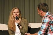 Andrea Ellenberger erzählt mit beeindruckenden Worten über ihre Verletzungen und mentale Stärke. (Bild: PD)