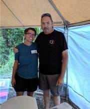 Susann Schuh und der Vater von Amanda Eller. (Bild: pd)