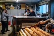 Die Ob- und Nidwaldner Bäckermeister bei der «Generalprobe» für den Weltrekordversuch. (Bild: PD, Horw, 11. März 2019)