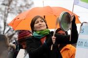 Grünen-Präsidentin Regula Rytz an einer Klimademo. (Bild: Keystone)