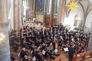Am Pfingstsonntag treten das Sinfonische Orchester Wil und der Chor zu St.Nikolaus in der Stadtkirche St.Nikolaus in Vollbesetzung an. (Bild: PD)