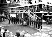 Am 25. August 1962 wird das Ruderzentrum eingeweiht, wenig später beginnt die WM. (Bild: Archiv Regattaverein Luzern)
