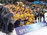 Mit KalPa Kuopio gewann 2018 erstmals überhaupt ein finnisches Team den Spengler Cup. In diesem Jahr ist das Weltmeister-Land in der Altjahrswoche mit TPS Turku am Traditionsturnier in Davos vertreten (Bild: KEYSTONE/SPENGLER CUP/MELANIE DUCHENE)
