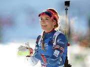 Während Jahren eines der strahlendsten Gesichter der Biathlon-Szene: Nun beendet Gabriela Koukalova ihre Karriere (Bild: KEYSTONE/EPA/LISI NIESNER)