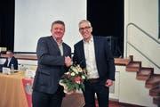 Schulkommissionsmitglied Pascal Widmer und Schulpräsident Urs Schrepfer.