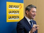 Der neue Post-CEO Roberto Cirillo während seiner ersten Medienkonferenz im April. Auf ihn warten grosse Herausforderungen. (Bild: KEYSTONE/PETER KLAUNZER)