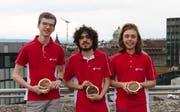 Gold für Nicolas Camenisch, Valentin Imbach und Joël Huber (von links nach rechts). Es fehlt Christopher Burkhardt. (Bild: PD)