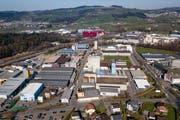 Den Luzerner Industriebetrieben (im Bild das Industriegebiet Münchrüti / Kleinfeld in Sursee) geht es befriedigend. (Bild: Philipp Schmidli, 21. März 2019)