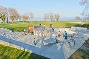 Der Skaterpark befindet sich im Seepark-Areal mit Blick aufs Wasser. (Bild: Donato Caspari)