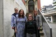 Urs Bertschi, Christina Bürgi Dellsperger und Isabel Liniger kandidieren für den Nationalrat, Barbara Gysel für den Ständerat (von links). (Bild: Andrea Muff, Zug, 28. Mai 2019)
