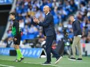 Zinedine Zidane ist Trainer von Real Madrid, dem «wertvollsten Fussballklub der Welt» (Bild: KEYSTONE/AP/ALVARO BARRIENTOS)