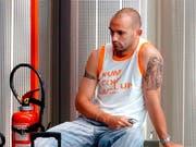 Er soll der Drahtzieher bei den vermuteten Spielmanipulationen in Spaniens Profifussball sein: der ehemalige Real-Madrid-Profi Raul Bravo (Bild: KEYSTONE/EPA EFE/ALBERTO MARTIN)