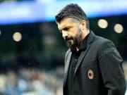 Verpasste mit der AC Milan die Champions League: Muss Trainer Gennaro Gattuso nun gehen? (Bild: KEYSTONE/EPA ANSA/SERENA CAMPANINI)