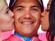 Richard Carapaz kam dem Gesamtsieg im Giro d'Italia einen weiteren Schritt näher (Bild: KEYSTONE/AP ANSA/ALESSANDRO DI MEO)