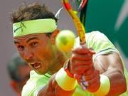 Rafael Nadal auch in seinem zweiten Match nicht ernsthaft gefordert (Bild: KEYSTONE/AP/CHRISTOPHE ENA)