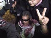 Der ehemalige Farc-Anführer Jesús Santrich vor einer Anhörung am 20. Mai in Bogotà. Nun ordnete Kolumbiens oberstes Gericht seine erneute Freilassung an. (Bild: Keystone/AP/IVAN VALENCIA)