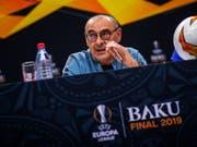 Bei der Pressekonferenz war er noch freundlich, im Abschlusstraining ärgerte er sich dann über seine Spieler: Chelsea-Coach Maurizio Sarri (Bild: KEYSTONE/EPA UEFA/JOOSEP MARTINSON - HANDOUT/UEFA VIA GETTY IMAG)