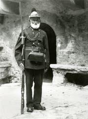 Andreas Kieber starb als letzter Soldat des liechtensteinischen Militärkontingents am 19. April 1939 im Alter von 95 Jahren. Ihn würdigte das Liechtenstein auf besondere Weise. (Bild: Baron Eduard von Falz-Fein/Landesarchiv)