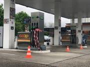 Nicht geht: Tankstelle in Aarau. (Bild: Leserreporter, 2. Mai 2019)