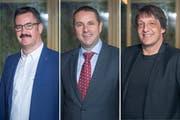Röbi Raths, Guido Etterlin und Beat Looser stellen sich zur Wahl fürs Stadtpräsidium (Bilder: Urs Bucher)