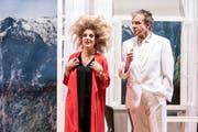 Die Theaterlüüt Ämme bei der Hauptrobe des Stückes «Irgendwo im Nirgendwo». (Bild: Manuela Jans-Koch, Emmen, 2. Mai 2019)
