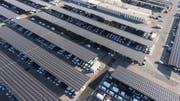 Solarzellen über Parkplätzen: So stellt sich Axpo die Zukunft vor. (Bild: HO)