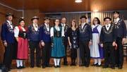 Nach der DV stellten sich die Vorstandsmitglieder der Kantonalen Trachtenvereinigung zum Gruppenbild auf. (Bild: Georg Epp, Flüelen, 29. Mai 2019)