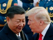 Chinas Präsident Xi Jinping und US-Präsident Donald Trump. (Bild: KEYSTONE/AP/ANDY WONG)