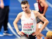 Auf der Bahn klappt es für Julien Wanders noch nicht so gut wie auf der Strasse. (Bild: KEYSTONE/WALTER BIERI)