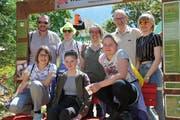 Obere Reihe von links: Dani, Susanne, Mélanie, Marco, Julia. Untere Reihe von links: Olivia, Soraya, Larina (Bild: Matthias Piazza/NZ, 30. Mai 2019)