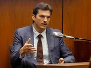 US-Schauspieler Ashton Kutcher bei seiner Aussage vor Gericht in Los Angeles. (Bild: KEYSTONE/AP Getty Images/FREDERICK M. BROWN/POOL PHOTO VIA AP)