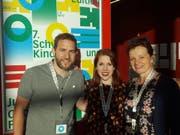 Zufriedene Gesichter beim OK (von links): Roland Enz (Kommunikation), Patricia Flury (Präsidentin) und Priska Wismer-Felder (Co-Präsidentin). (Bild: David von Moos/Luzerner Zeitung)