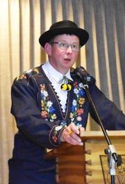 Kantonalpräsident Ruedi Brand forderte die Mitglieder auf, Sorge zur Volkskultur zu tragen. (Bild: Georg Epp, Flüelen 29. Mai 2019)