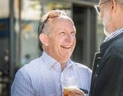 Martin Salvisberg genoss das Gespräch mit den Leuten sichtlich. (Bild: Andrea Stalder)
