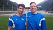 Rafael Aschwanden (links) und Lukas Gerig laufen am Samstag zum letzten Mal für die Farben des ESC Erstfeld auf. (Bild: PD)