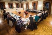 Impression aus dem Grossen Bürgersaal im Dezember 2018, als der Gemeinderat übers Budget 2019 debattiert. (Bild: Reto Martin)
