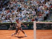 Roger Federer zog ohne Satzverlust in die Achtelfinals ein (Bild: KEYSTONE/AP/PAVEL GOLOVKIN)