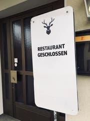 Das Restaurant Hirschen ist seit dem 13. Mai geschlossen. (Bild: Perrine Woodtli)