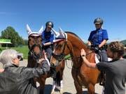 Die berittene Stadtpolizei ist nur zwei- bis dreimal pro Jahr im Einsatz. (Bild: Christa Kamm-Sager)