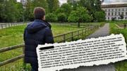 Auch das Aussendepartement stellt sich in einem Brief (Ausriss) hinter Katastrophenhelfer Martin Peterhans. (Bild: lhn/chm)