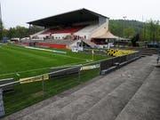 Verhaftungen nach einem Spiel im Stadion Schützenwiese in Winterthur: Fussballfans des FC Schaffhausen hatten am Sonntag zu Gewalt gegen Frauen aufgerufen. (Bild: KEYSTONE/STEFFEN SCHMIDT)