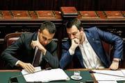 Die italienischen Vizepremiers Luigi Di Maio (links) und Matteo Salvini. (Bild: Fabio Fustaci/AP (Rom, 13. Februar 2019))