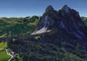 Der Haggenspitz, von der Haggenegg aus gesehen. (Bild: Google Earth)