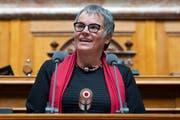 Die zurücktretende Genfer SP-Ständerätin Liliane Maury Pasquier wurde an der GV der Nebs mit dem Europapreis ausgezeichnet. (Bild: KEYSTONE/Anthony Anex)