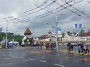 Dunkle Wolken über Luzern. Bild: David von Moos