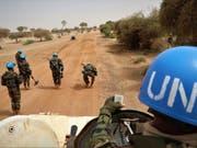 Ein Convoy mit Soldaten der Uno-Mission Minusma patroulliert in Mali. Die Uno warnt mittlerweile, dass die Ereignisse in dem Land «sehr besorgniserregend» seien. (Bild: Keystone/EPA/MINUSMA HANDOUT)