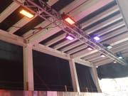 Farbige Lichter im Zieltunnel. (Bild: David von Moos)