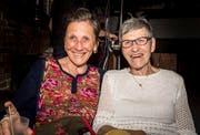 Frauenfeld TG - Links: Cornelia Gruber (Patin von Martin Eggmann), rechts: Juliana Eggmann (Mutter von Martin Eggmann). Jubiläumsfeier, 20 Jahre Dreiegg Frauenfeld.