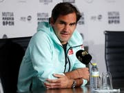 Roger Federer gab am Sonntag in Madrid Auskunft (Bild: KEYSTONE/EPA EFE/CHEMA MOYA)